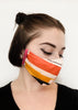 BlackCoffee OrangeGeo FaceMask
