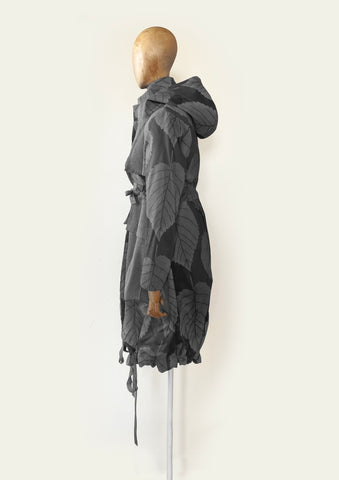 BlackCoffee Labyrynth Parka - grey leaf