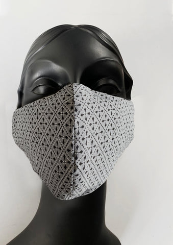 BlackCoffee GreyPattern FaceMask