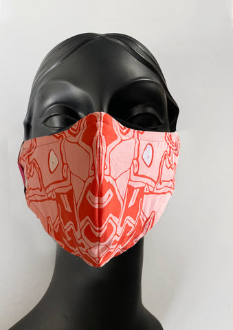 BlackCoffee Imprint FaceMask - orange