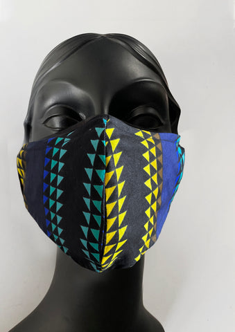 BlackCoffee Triangles FaceMask
