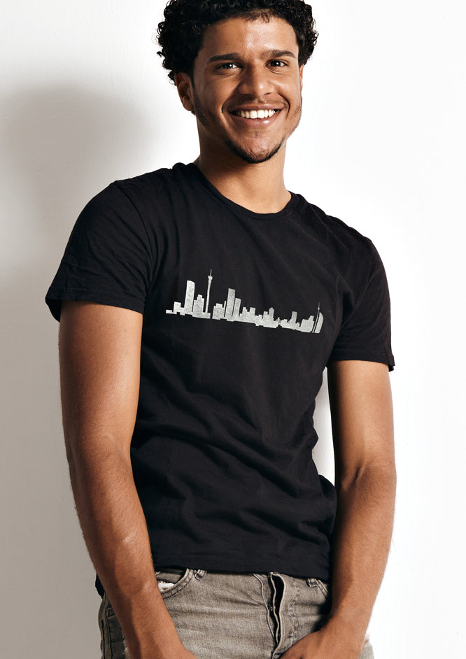 Skyline T-Shirt white on black