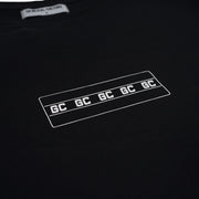 White Logo LS Tees/ Black