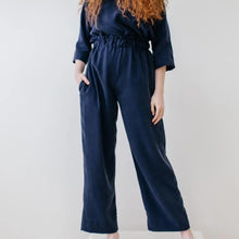Load image into Gallery viewer, Sage Pant in Navy Tencel