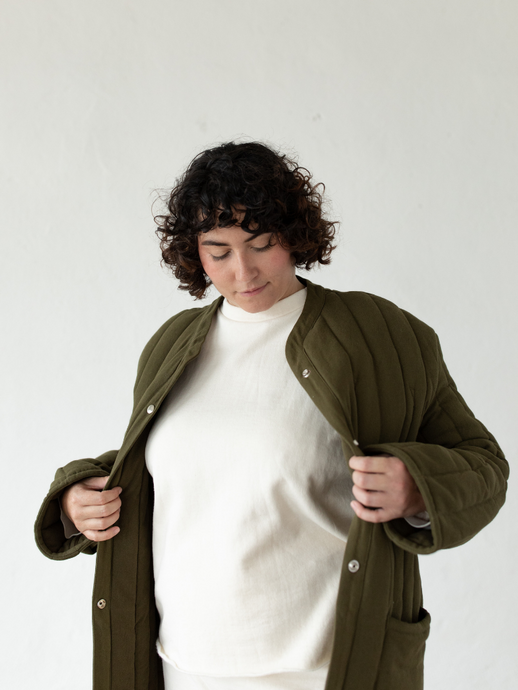 Sawyer Quilted Jacket - Olive (L)