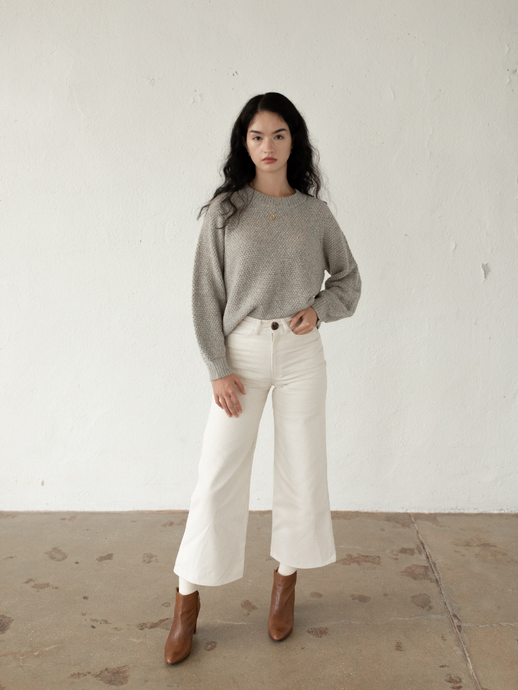 High Rise Pant in Bone
