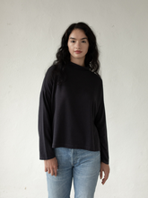 Load image into Gallery viewer, Jay Mock Neck Top - Washed Black