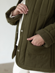 Sawyer Quilted Jacket - Olive