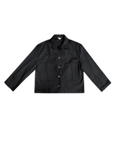 Load image into Gallery viewer, Cropped Cotton Canvas Jacket - Black (XS/S)