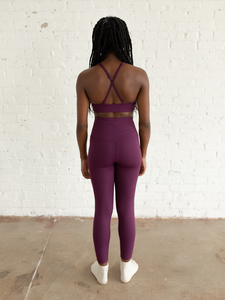 Plum Compressive High-Rise Legging