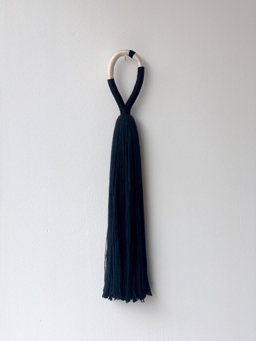 Eternal Wall Hanging - Black + Natural band