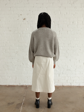 Load image into Gallery viewer, Cream Wrap Skirt