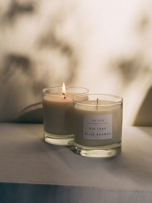 Fig Leaf & Olive Branch Candle / Available in 5oz & 8 oz