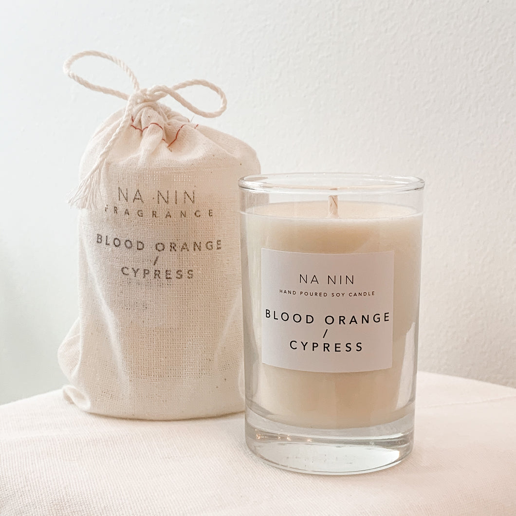 Blood Orange / Cypress candle
