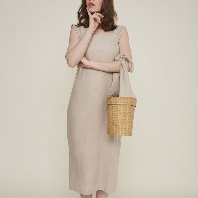 Octavia dress in Natural Linen