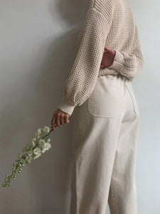 Barrel Pant - Cream