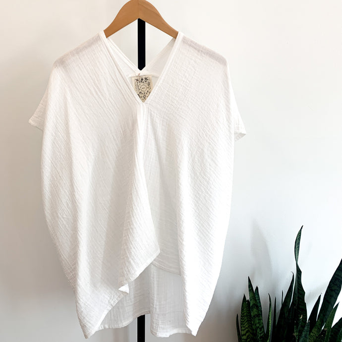 Everyday Top - Cotton Bubble Gauze in White