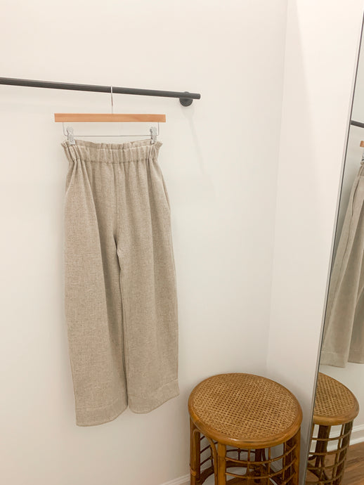 Sage Pant in Oatmeal Wool