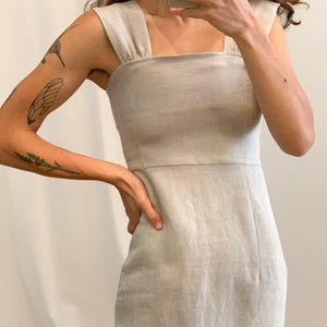 Octavia dress in Natural Linen (L)
