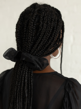 Load image into Gallery viewer, Black Organza scrunchie