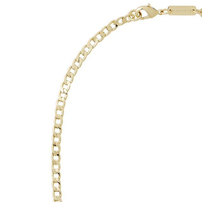 Small Curb Chain Necklace in 14k Gold