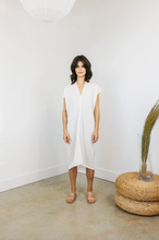 Load image into Gallery viewer, Everyday Dress - White Cotton Bubble Gauze
