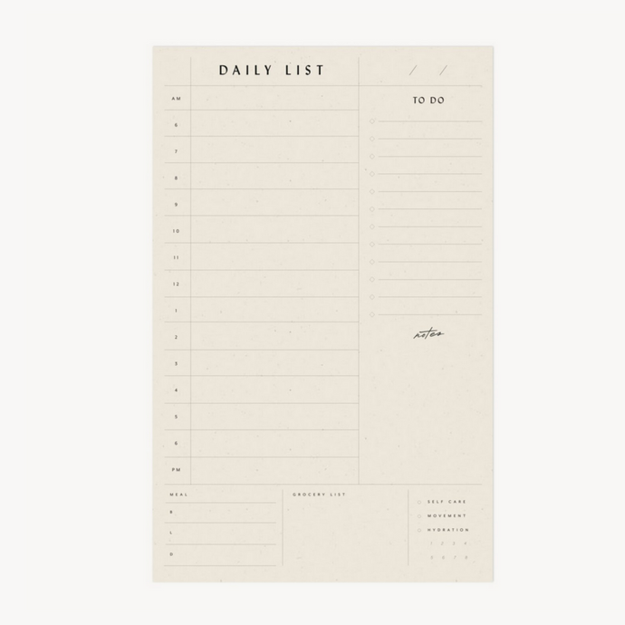 Daily List Pad