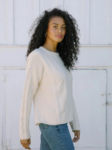 Modern Fisher Sweater (cotton) - Birch
