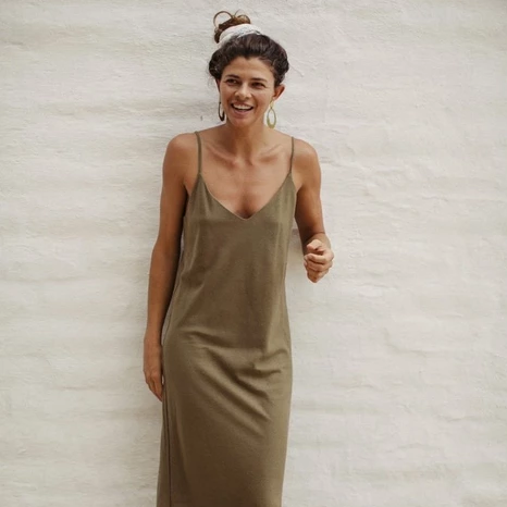 Slipdress in Silk Noil (multiple colors available)
