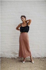 Grace Silk Skirt (multiple colors available)
