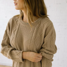 Load image into Gallery viewer, Modern Fisher Sweater in Hazel Alpaca