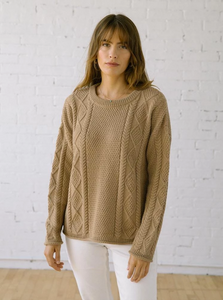 Modern Fisher Sweater in Hazel Alpaca