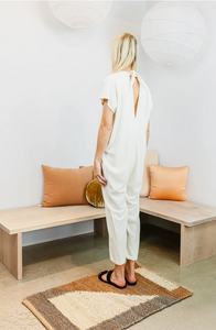Everyday Jumpsuit in Natural Silk Noil