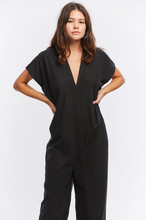 Load image into Gallery viewer, Everyday Jumpsuit in Black Silk Noil