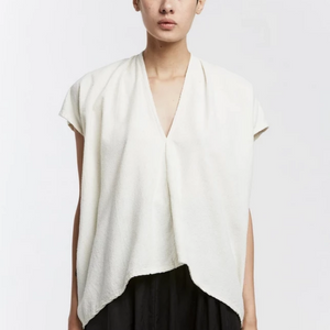 Everyday Top in Natural Silk Noil