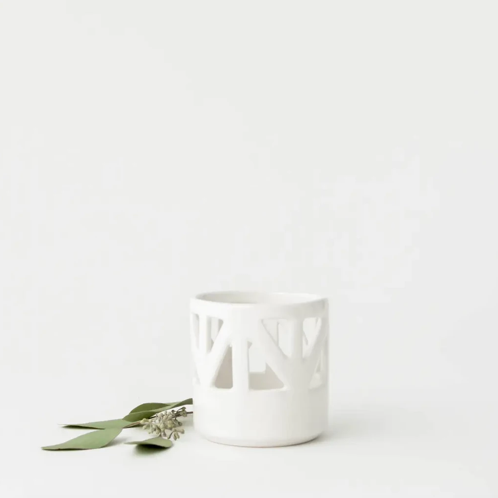 White Structured Votives (two sizes)