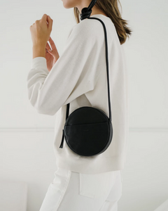 Soft Mini Circle Purse - Black
