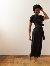 Load image into Gallery viewer, Wide Pant in Black Tencel