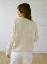 Load image into Gallery viewer, Modern Fisher Sweater in Cotton - Birch