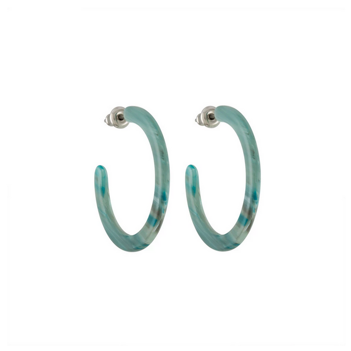 Mini Hoops in Jadeite Green