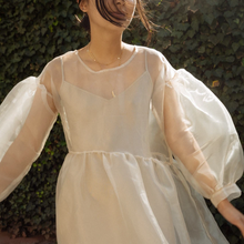 Load image into Gallery viewer, Jayme Dress in Oat Organza