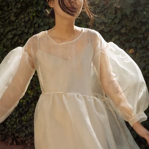 Jayme Dress in Oat Organza (XS/S)