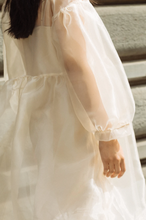 Load image into Gallery viewer, Jayme Dress in Oat Organza (XS/S)