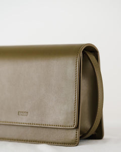 Small Structured Crossbody - Kelp