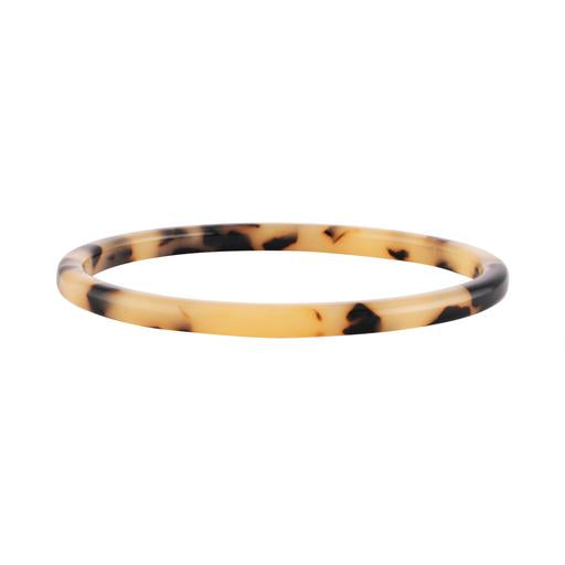 Square Bangle in Blonde Tortoise