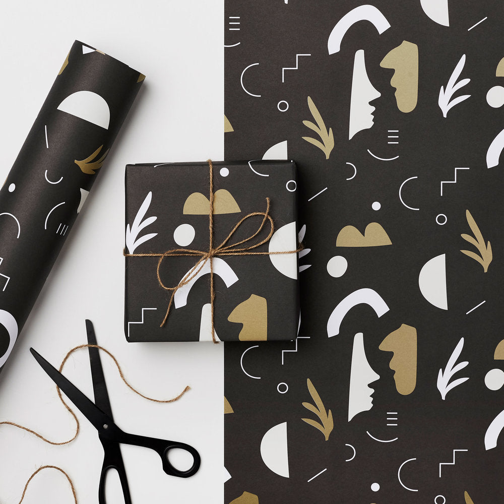 Dark Fills - Recycled Paper Gift Wrap Sheet