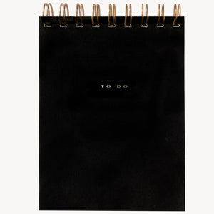 To Do Desk Pad in Noir