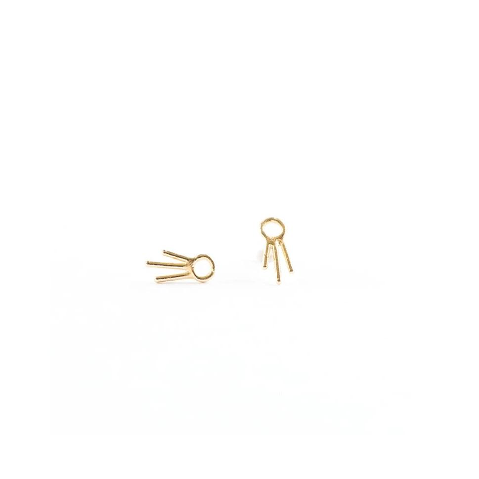 Ace of Wands Studs - Gold