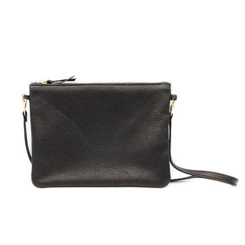 Pouch Purse in Black Leather