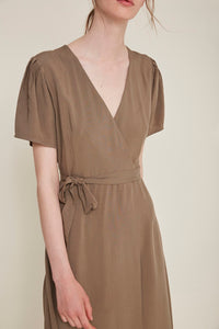 Silvia Dress in Topo